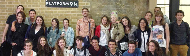 english course students, Platform 9 3/4