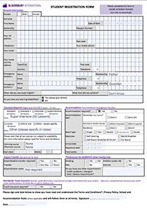 Editable registration form