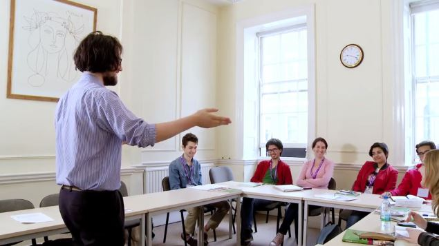 English speaking courses, students in a Bloomsbury International English class