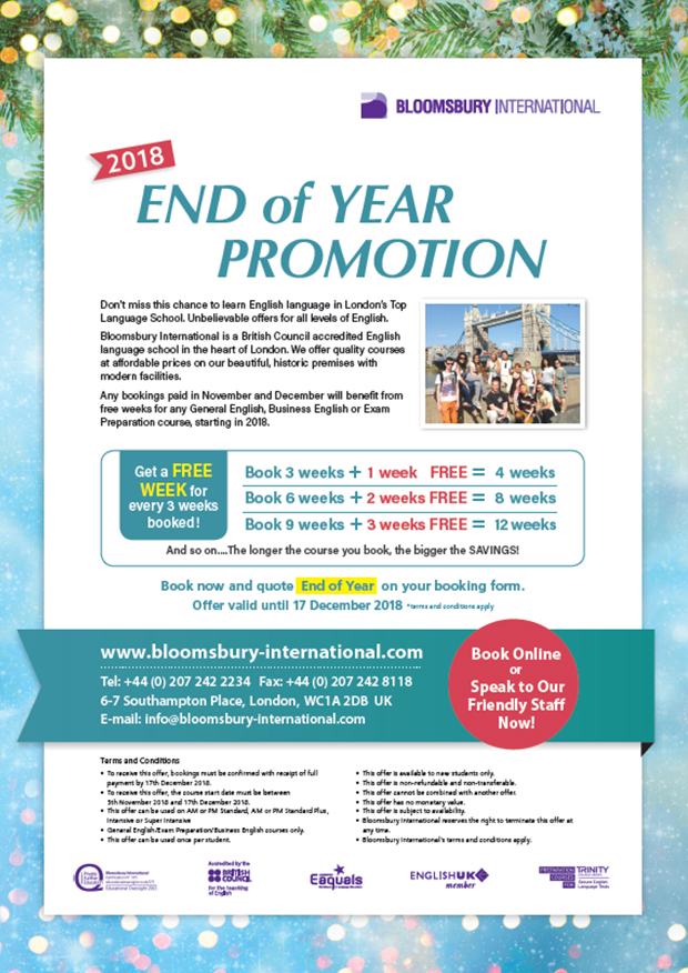 End of Summer Offer 2018
